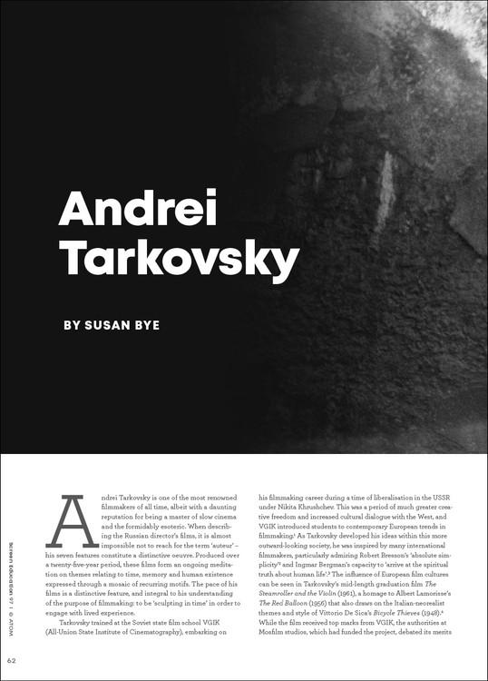 Filmmaker Profile: Andrei Tarkovsky