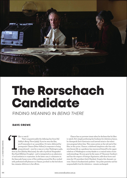 The Rorschach Candidate: Finding Meaning in 'Being There'