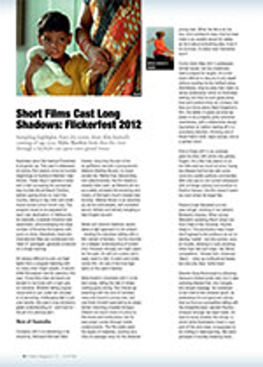 Short Films Cast Long Shadows: Flickerfest 2012