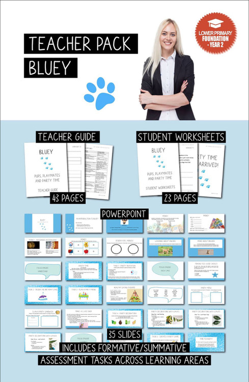 Bluey (Teacher Pack) - Lower Primary (Foundation - Year 2)