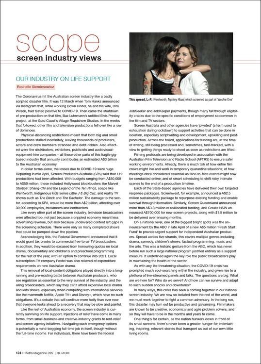 Scope: Screen Industry Views (M205)