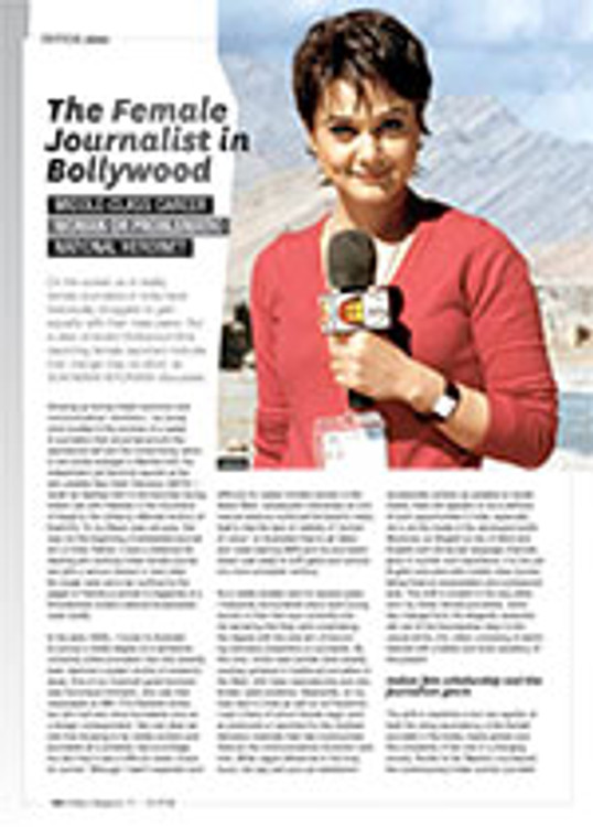 The Female Journalist in Bollywood: Middle-class Career Woman or Problematic National Heroine?