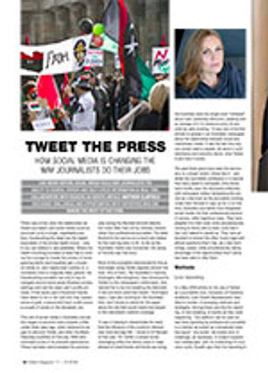 Tweet the Press: How Social Media is Changing the Way Journalists Do Their Jobs