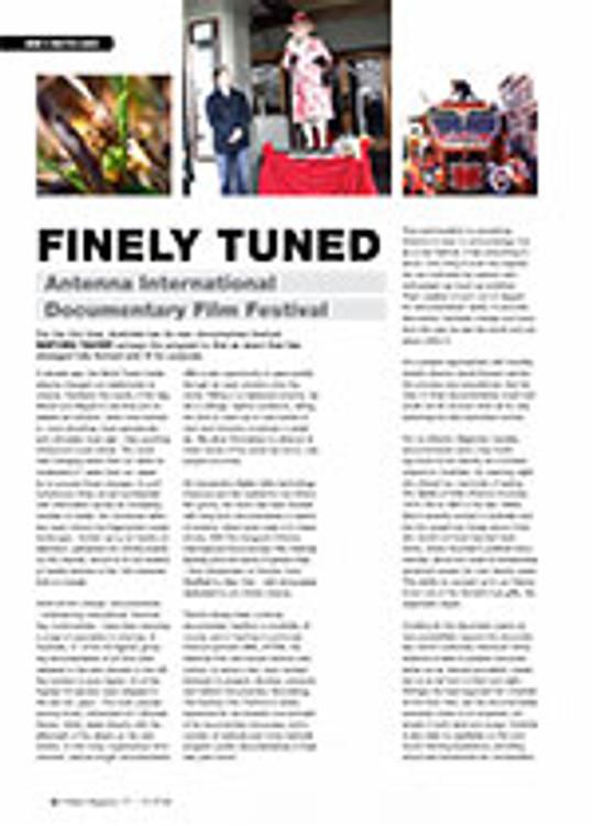 Finely Tuned: Antenna International Documentary Film Festival