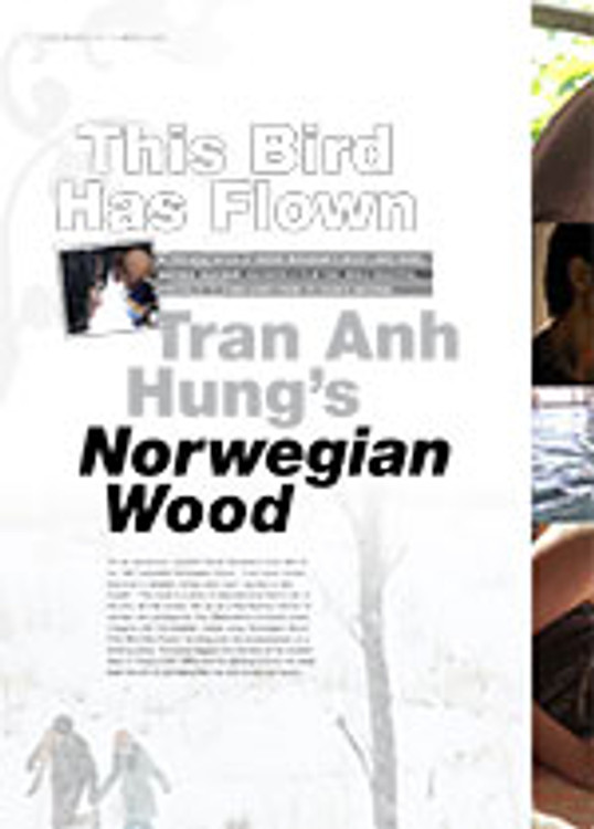 This Bird Has Flown: Tran Anh Hung? <i>Norwegian Wood</i>