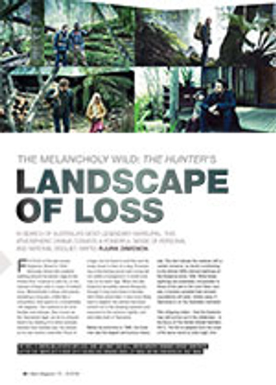 The Melancholy Wild: <i>The Hunter</i>? Landscape of Loss