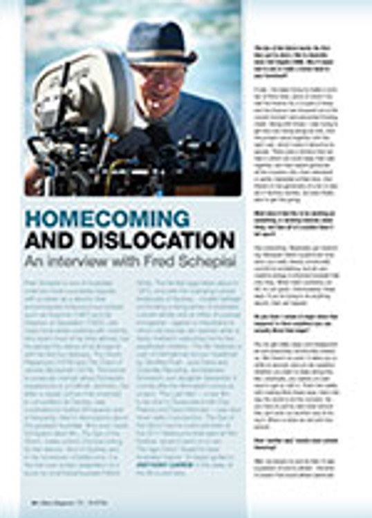 Homecoming and Dislocation: An Interview with Fred Schepisi
