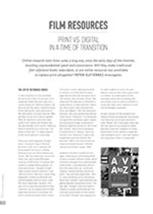 Film Resources: Print vs. Digital in a Time of Transition