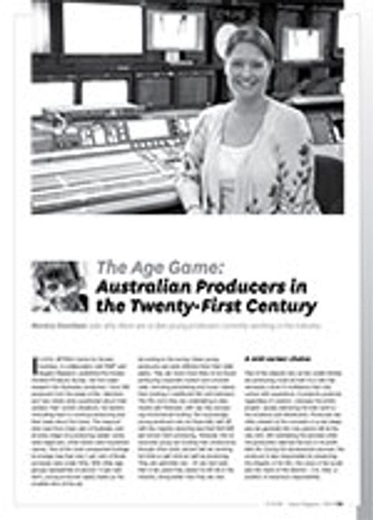 The Age Game: Australian Producers in the Twenty-First Century