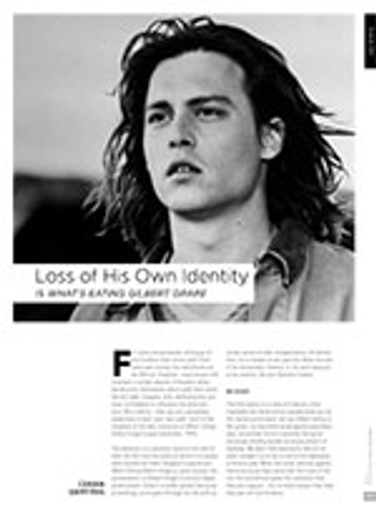 Loss of His Own Identity is <i>What? Eating Gilbert Grape</i>