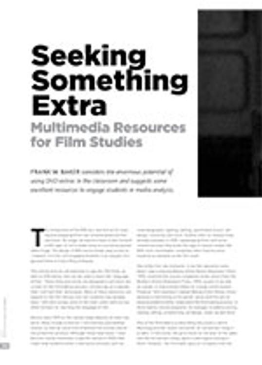 Seeking Something Extra: Multimedia Resources for Film Studies