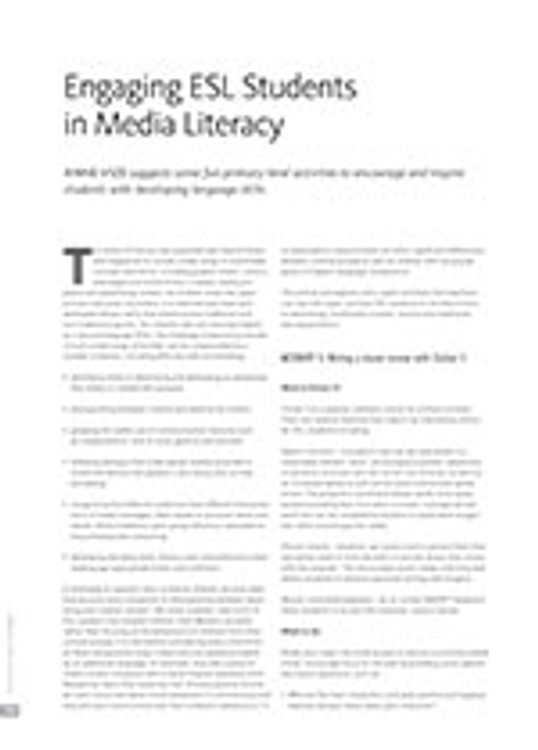 Engaging ESL Students in Media Literacy