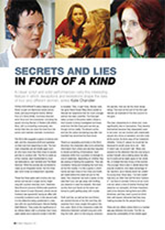 Secrets and Lies in <i>Four of a Kind</i>