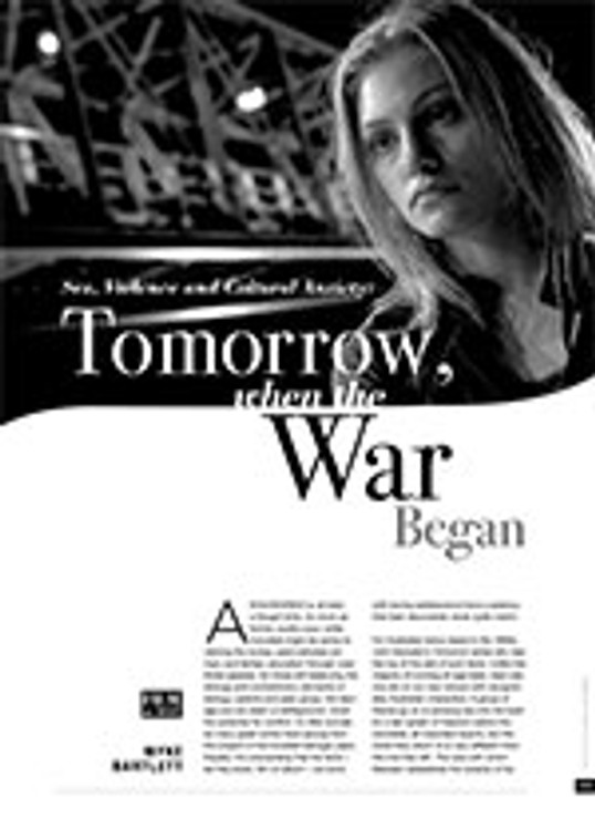 Sex, Violence and Cultural Anxiety: <i>Tomorrow, When the War Began</i>