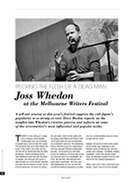 Pecking the Flesh of a Dead Man: Joss Whedon at the Melbourne Writers Festival