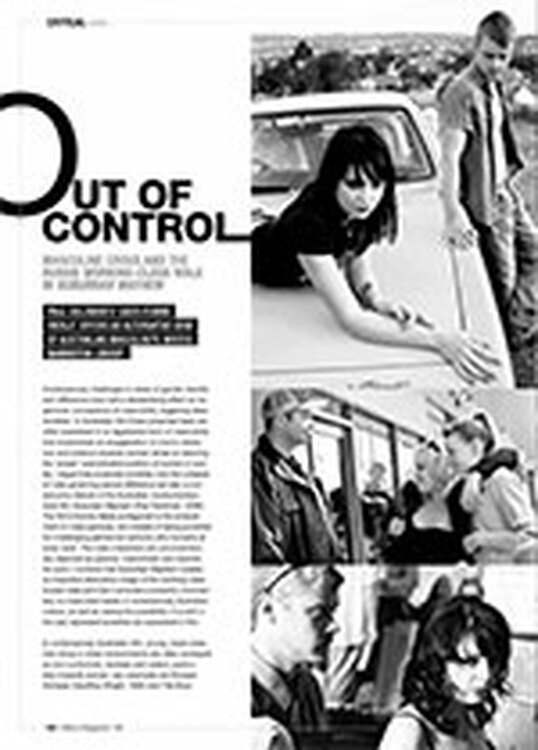Out of Control: Masculine Crisis and the Aussie Working-Class Male in <i>Suburban Mayhem</i>