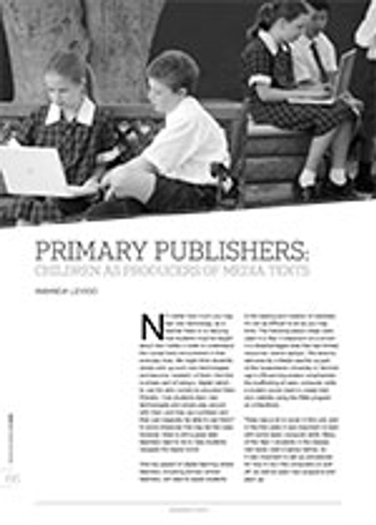 Primary Publishers: Children as Producers of Media Texts