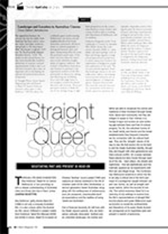 Straight Places, Queer Spaces: Negotiating Past and Present in <i>Head On</i>