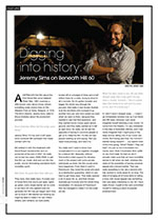 Digging into History: Jeremy Sims on <i>Beneath Hill 60</i>