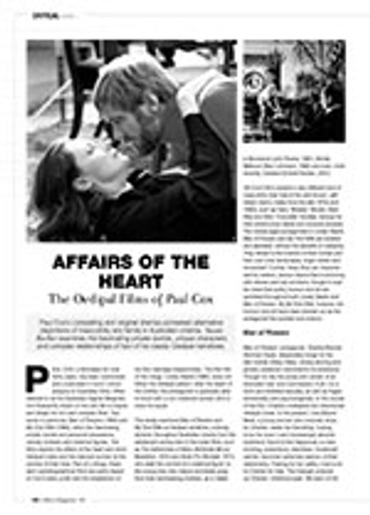 Affairs of the Heart: The Oedipal Films of Paul Cox