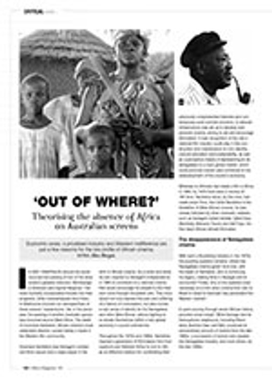 ?ut of Where?? Theorising the Absence of Africa on Australian Screens