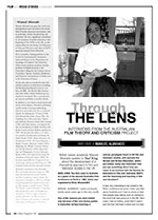 Through the Lens ?Interviews from the Australian Film Theory and Criticism Project: Manuel Alvarado