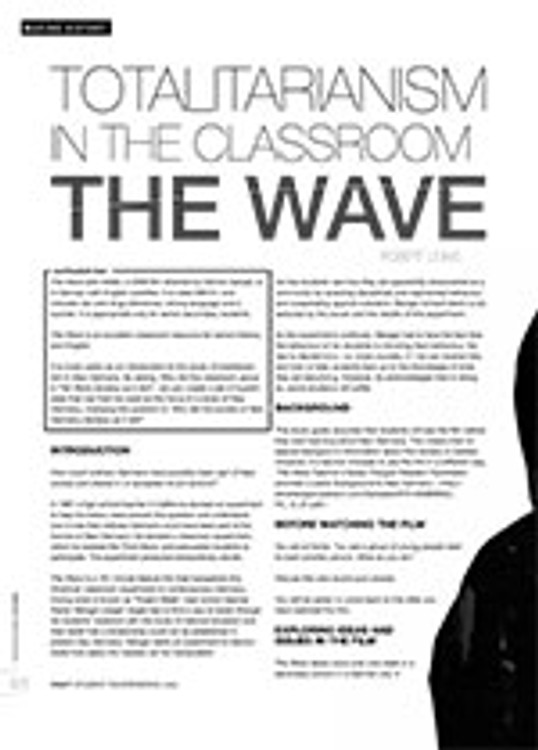 Totalitarianism in the Classroom: <i>The Wave</i>