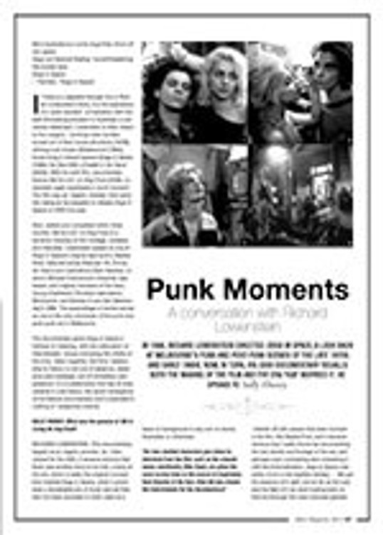 Punk Moments: A Conversation with Richard Lowenstein
