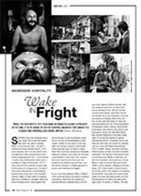Aggressive Hospitality: <i>Wake in Fright</i>