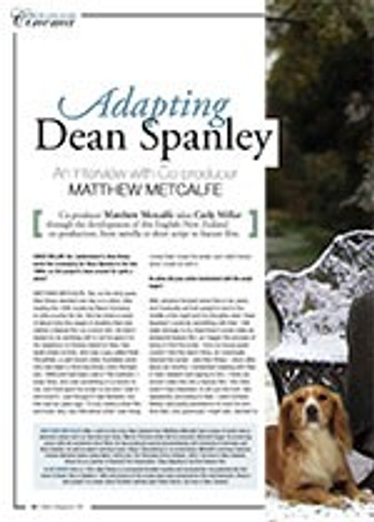 Adapting <i>Dean Spanley</i>: An Interview with Co-producer Matthew Metcalfe