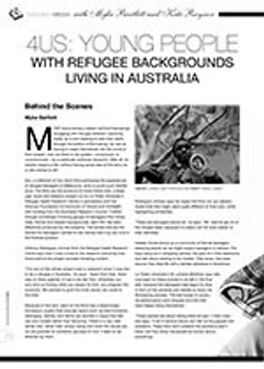 <i>4us</i>: Young People with Refugee Backgrounds Living in Australia