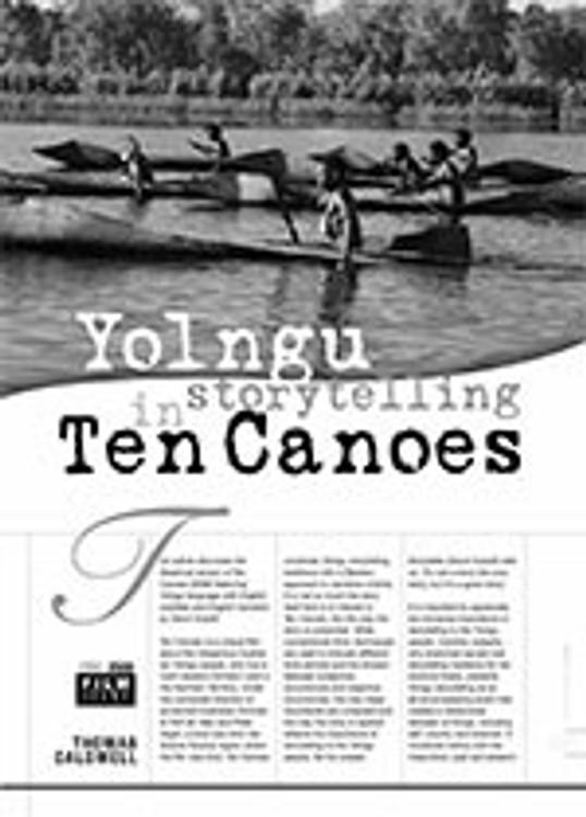 Yolngu Storytelling in <i>Ten Canoes</i>