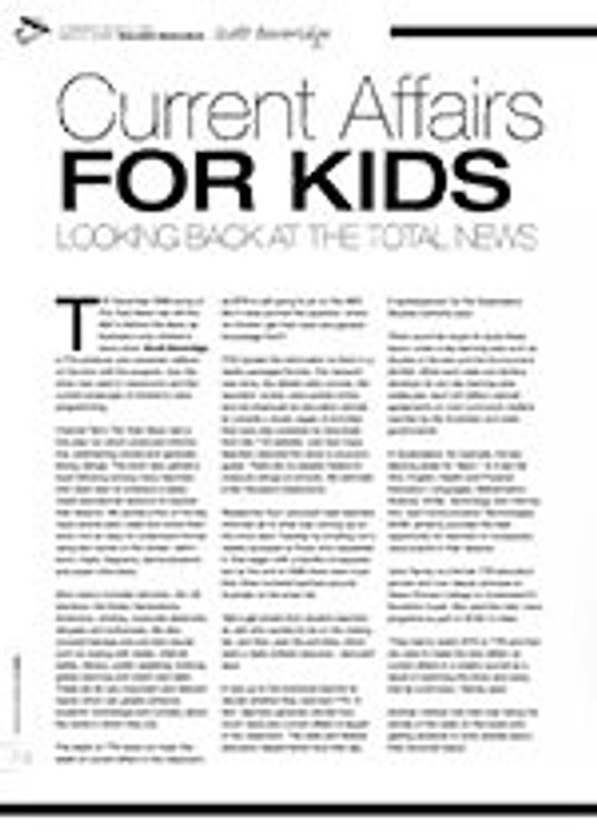 Current Affairs for Kids: Looking Back at <i>The Total News</i>
