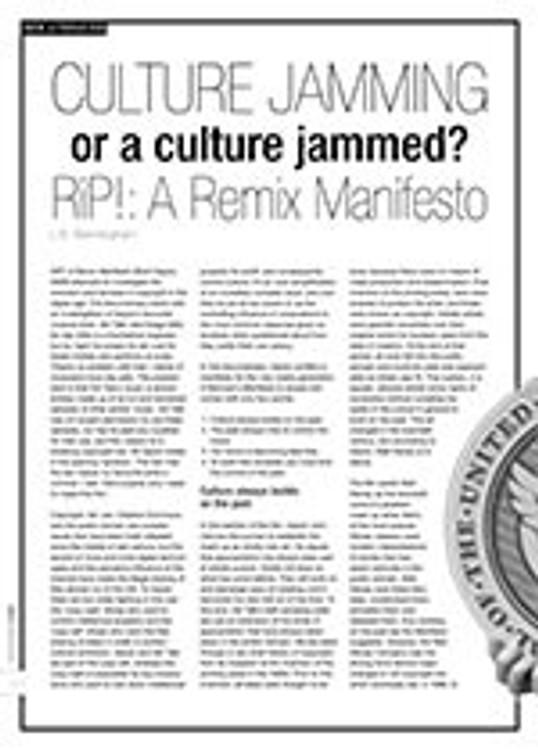 Culture Jamming or a Culture Jammed? <i>RiP!: A Remix Manifesto</i>