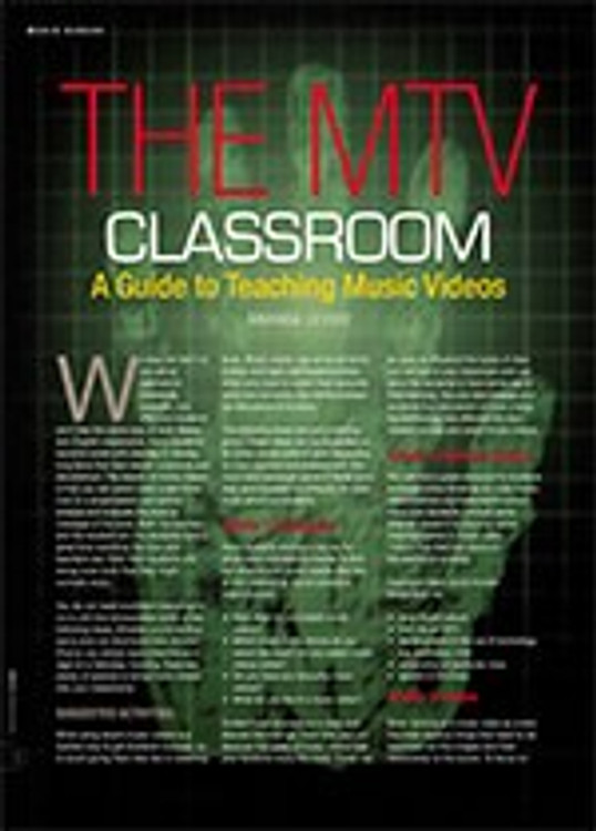 The MTV Classroom: A Guide to Teaching Music Videos