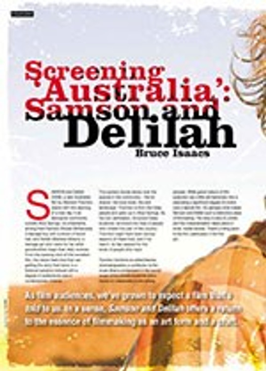 Screening ?ustralia? <i>Samson and Delilah</i>