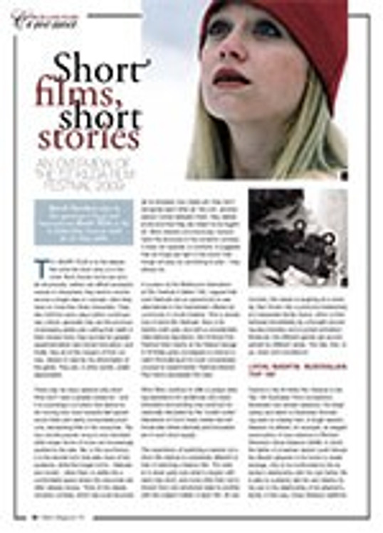 Short Films, Short Stories: An Overview of the St Kilda Film Festival 2009