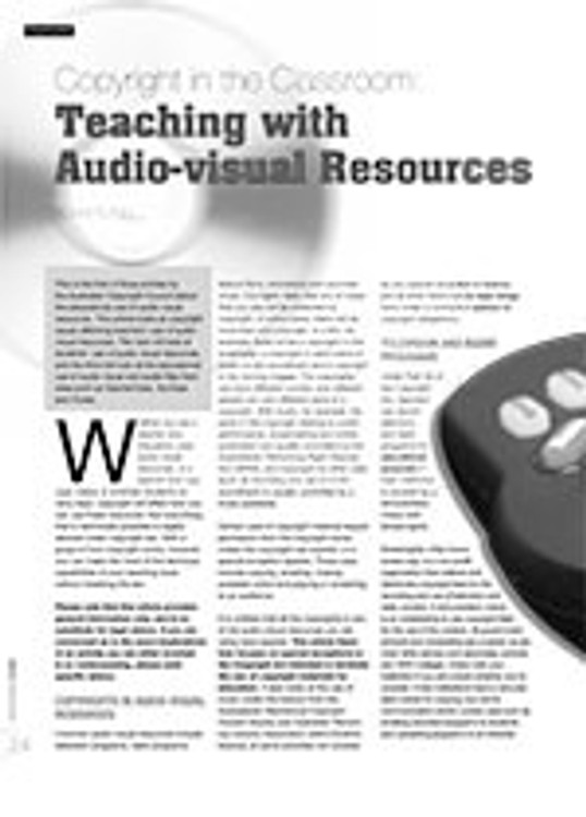 Copyright in the Classroom: Teaching with Audio-Visual Resources
