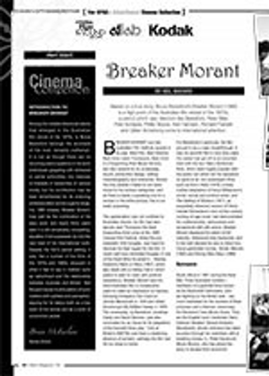 The NFSA? Atlab/Kodak Cinema Collection: <i>Breaker Morant</i>