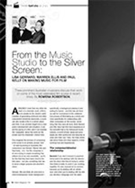 From the Music Studio to the Silver Screen: Lisa Gerrard, Warren Ellis and Paul Kelly on Making Music for Film