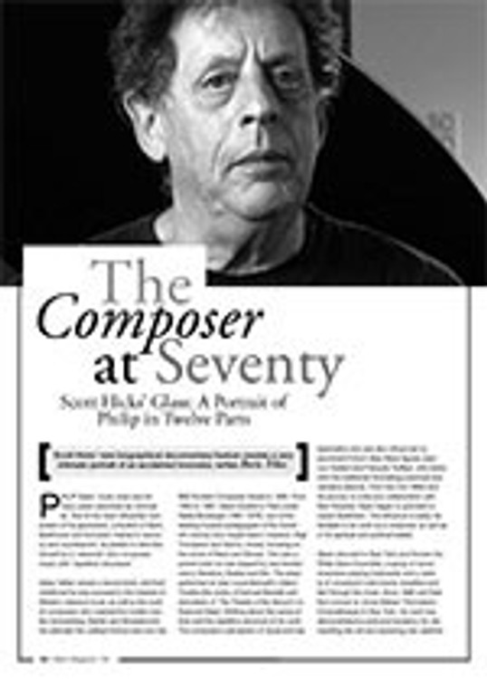 The Composer at Seventy: Scott Hicks?<i>Glass: A Portrait of Philip in Twelve Parts</i>