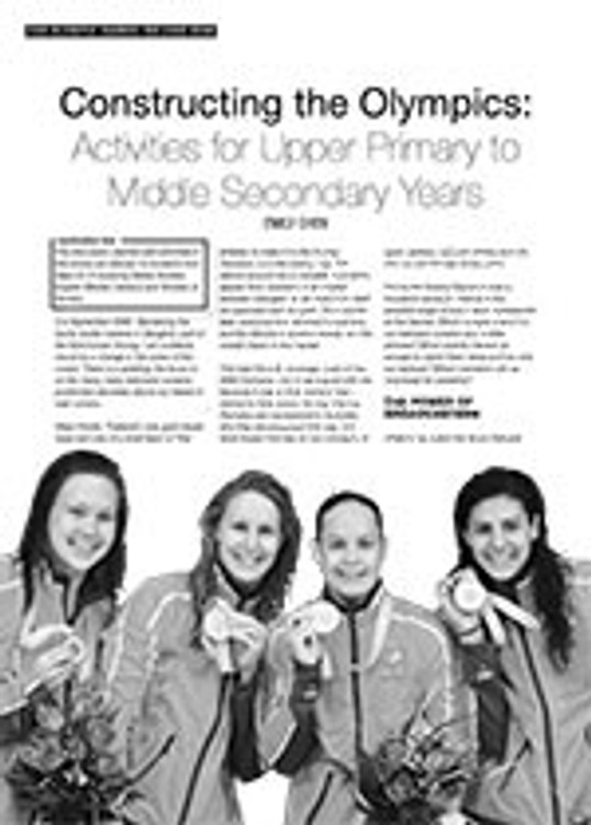 Constructing the Olympics: Activities for Upper Primary to Middle Secondary Years
