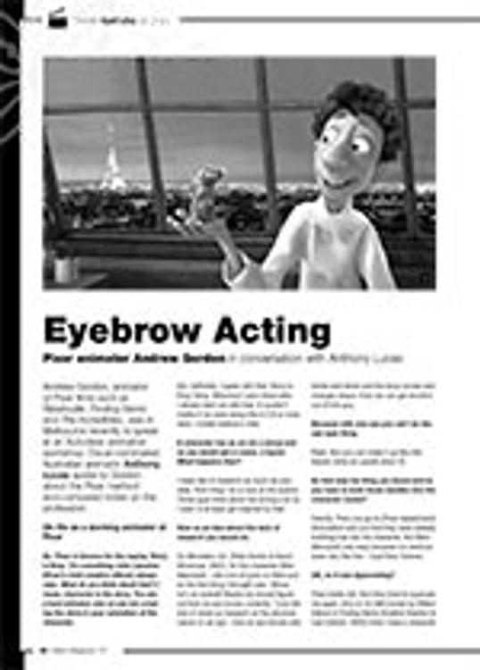 Eyebrow Acting: Pixar Animator Andrew Gordon in Conversation