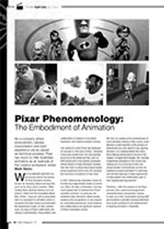 Pixar Phenomenology: The Embodiment of Animation