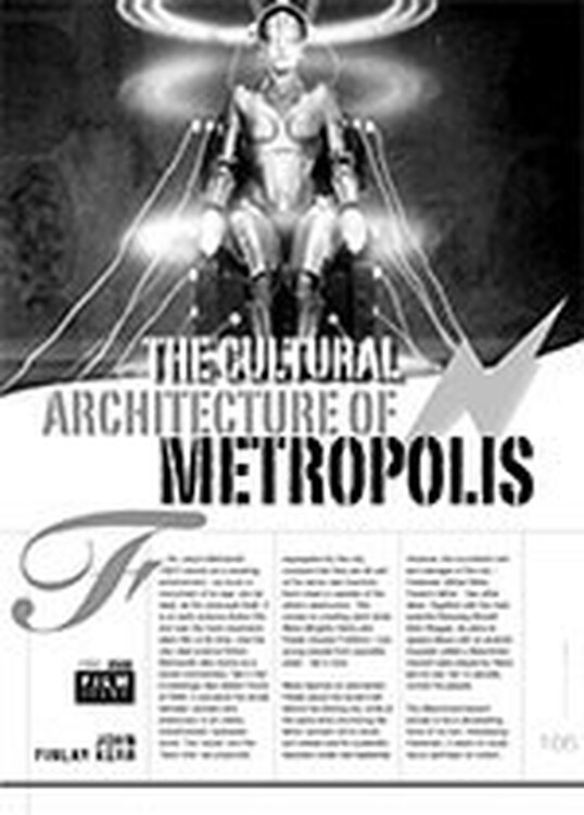The Cultural Architecture of <i>Metropolis</i>