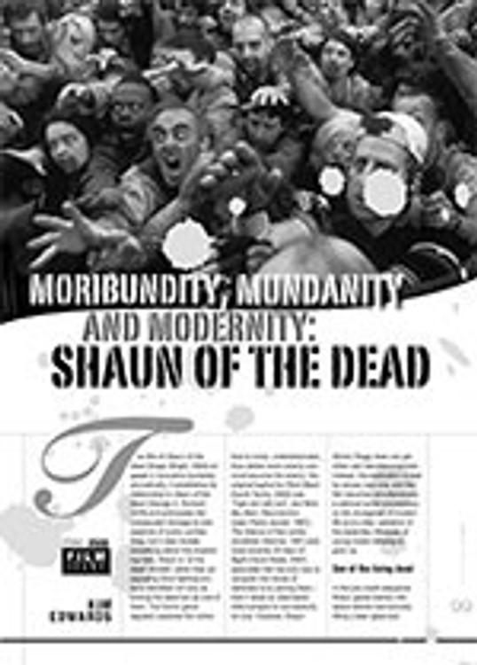 Moribundity, Mundanity and Modernity: <i>Shaun of the Dead</i>