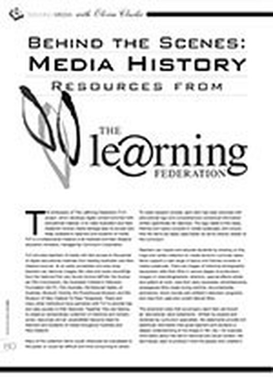 Behind the Scenes: Media History Resources from The Le@rning Federation