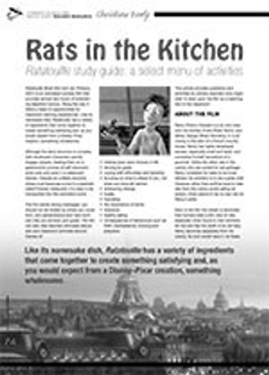 Rats in the Kitchen: <i>Ratatouille</i> Study Guide: A Select Menu of Activities