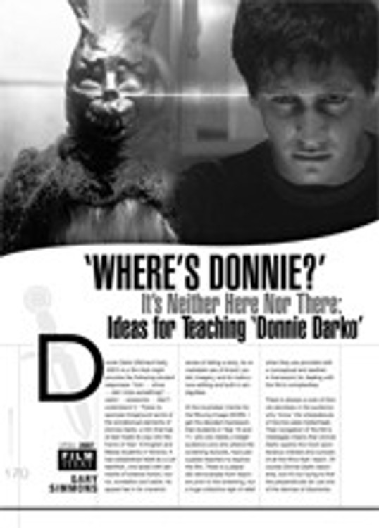 Where's Donnie? It's Neither Here Nor There: Ideas for Teaching <i>Donnie Darko</i>