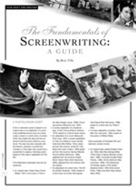 The Fundamentals of Screenwriting: A Guide